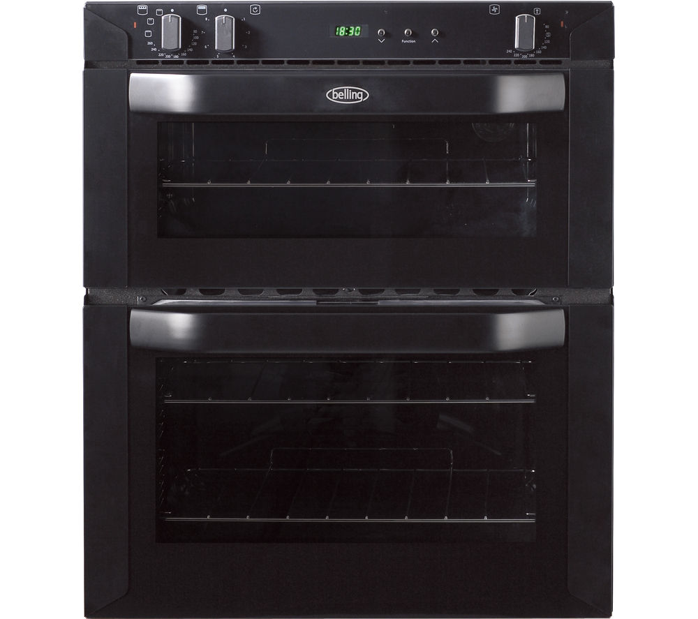 Belling BI70FP Electric Built Under Double Oven Black